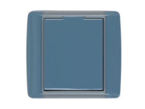 Központi porszívó Kék, kerekített műanyag falicsatlakozó