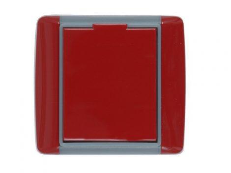 Központi porszívó Piros, kerekített műanyag falicsatlakozó