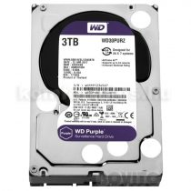 Wetern Digital HDD 3,5'' WD SATA 6 Gb/s Purple 3TB/110MB/s