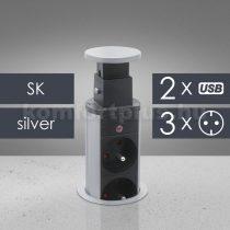 Delight Rejtett elosztó 3-as, 2* USB
